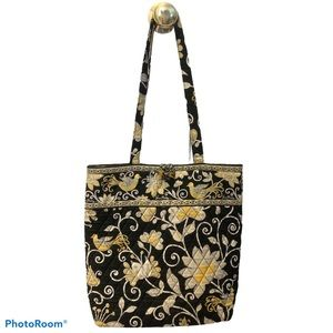 💙 Vera Bradley RETIRED Yellow Bird Tote Bag EUC